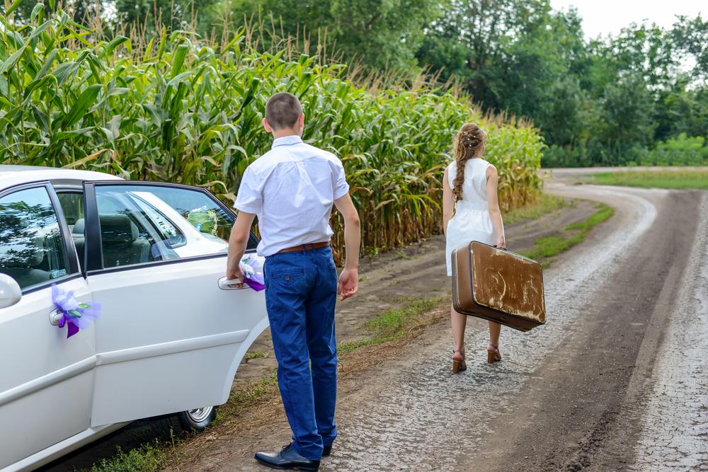жена уходит от мужа