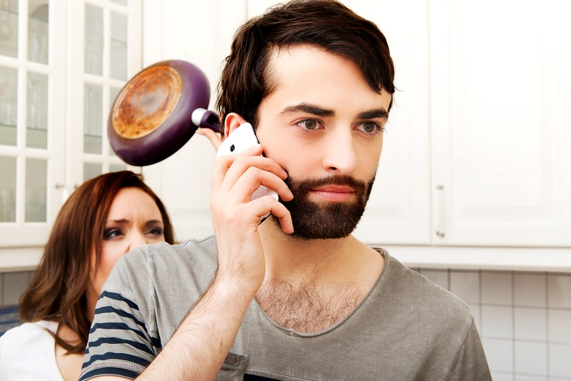 жена поймала мужа при измене