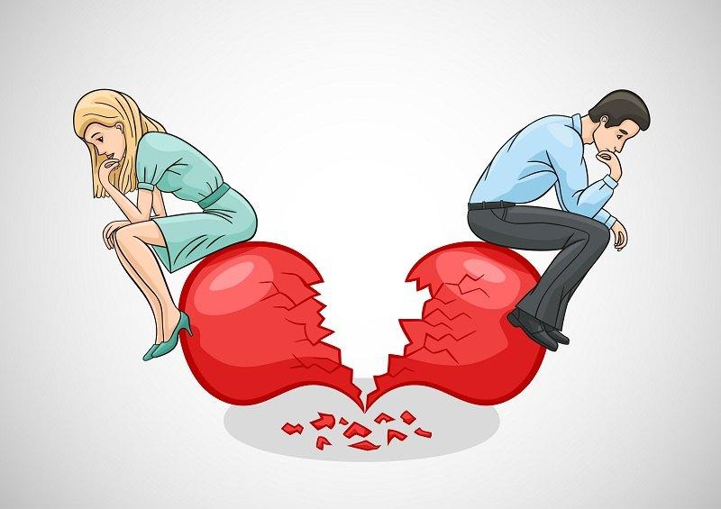 Почему люди разводятся: мужчина и женщина у разбитого сердца