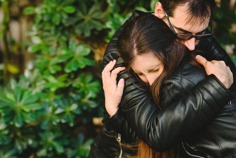 Супруги помирились после ссоры при ребенке